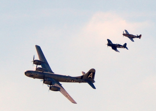 b29 superfortress fly by