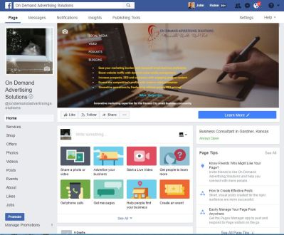 facebook business page screenshot