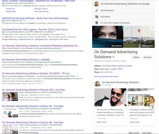 Google Search On Demand Advertising Solutions  screenshot