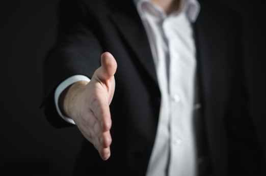 man shaking hand