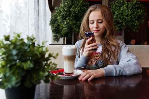 woman with phone shake