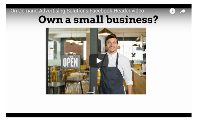 on demand header small business screenshot