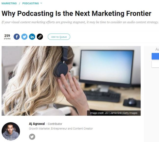 podcasting marketing frontier
